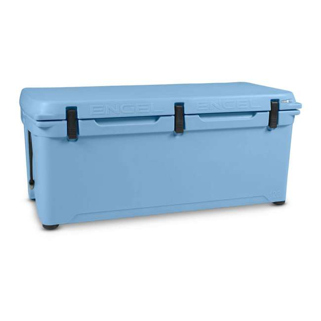 ENG123-B-U-B Engel 123 High Performance 27 Gal Roto Molded 130 Can Cooler, Arctic Blue (Used) 4
