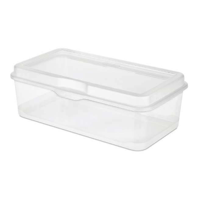 60 x 18058606 Sterilite 18058602 Plastic FlipTop Latching Storage Box Container Clear (60 Pack) 1