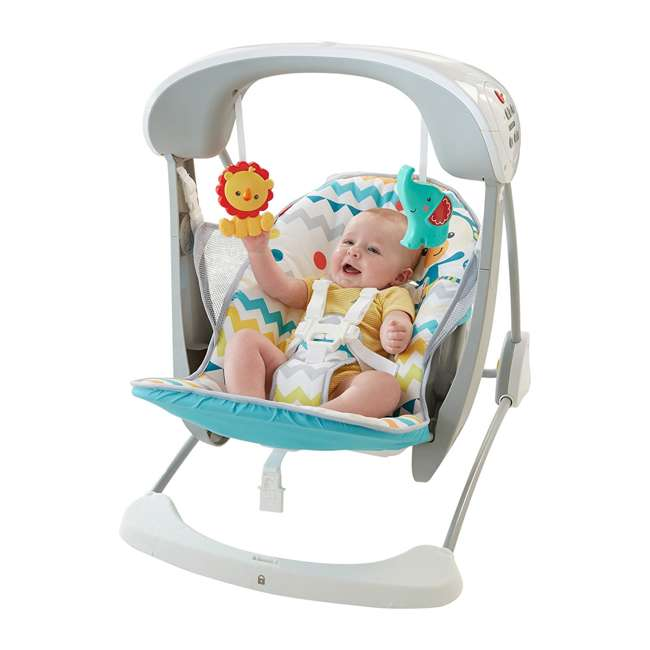 DPV46 Fisher Price Colorful Carnival Take-Along Infant Swing and Seat (2 Pack) 5