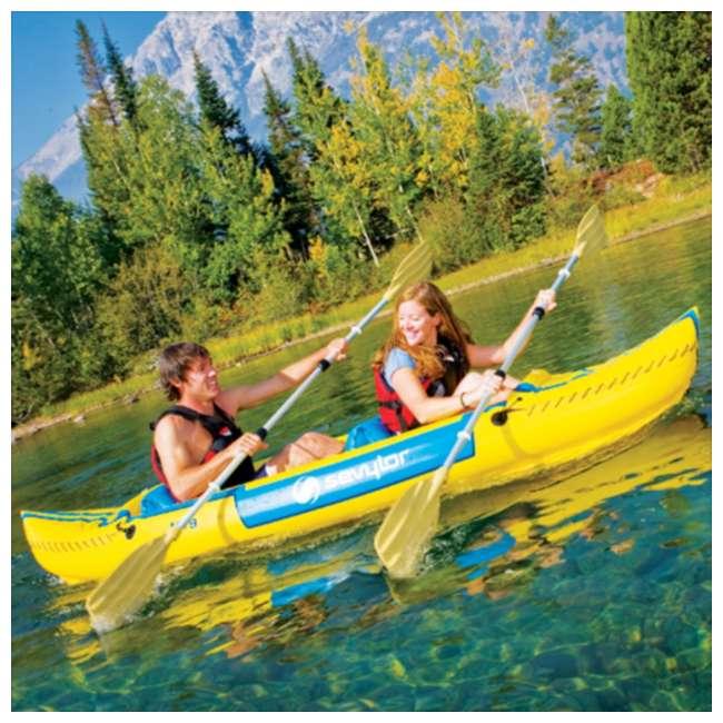 2000003414 Sevylor Tahiti Classic Inflatable 2 Person Kayak Boat 1
