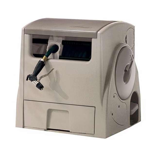 PW100 Suncast 100 Foot Powerwind Automatic Rewind Hose Reel, Light Taupe (For Parts)
