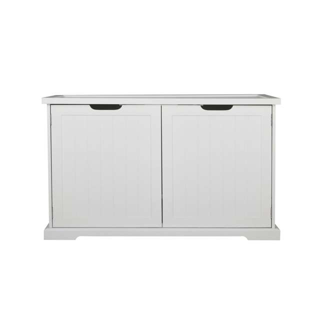 MPS010-U-D Merry Products Bench with Enclosed Cat Litter Washroom Box, White (Damaged) 9