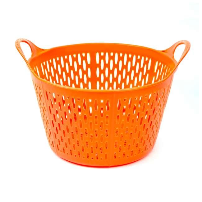 TS-FSC4-OR Tuff Stuff Products FSC4-OR 3.75 Gallon Flex Sieve Colander with Handles, Orange