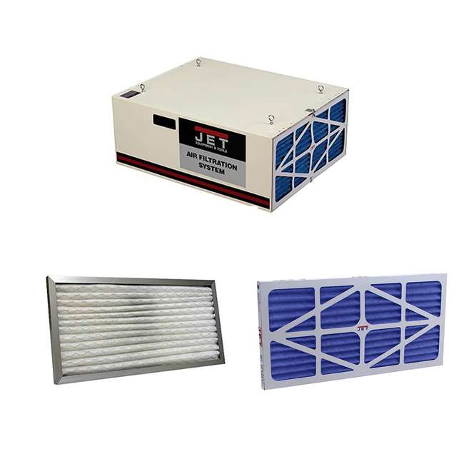 JPW-708620B + JET-708732 + JET-708731 Jet Air Filtration System w/ Pleated and Washable Replacement Filters