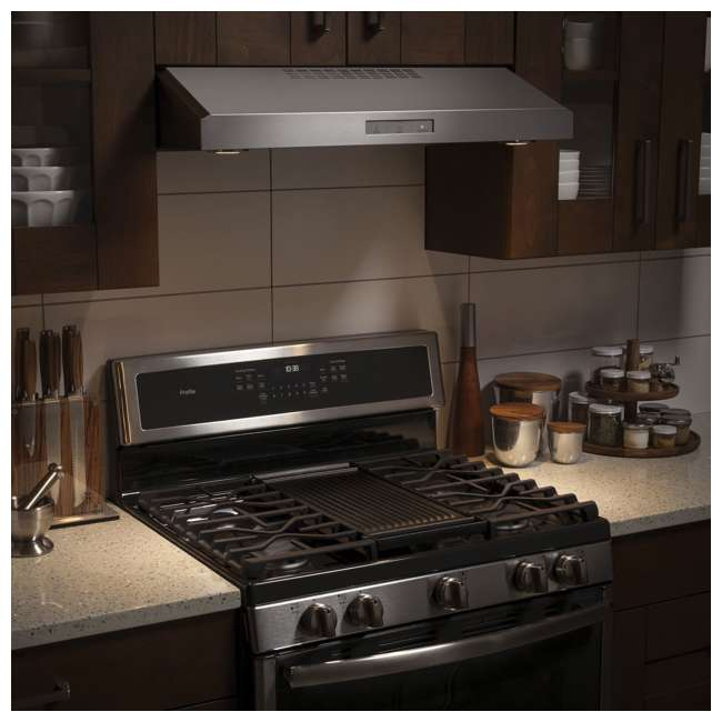 PVX7300SJSS-U-C GE Profile 30 Inch Under the Cabinet Hood Stainless Steel Range Vent (For Parts) 9