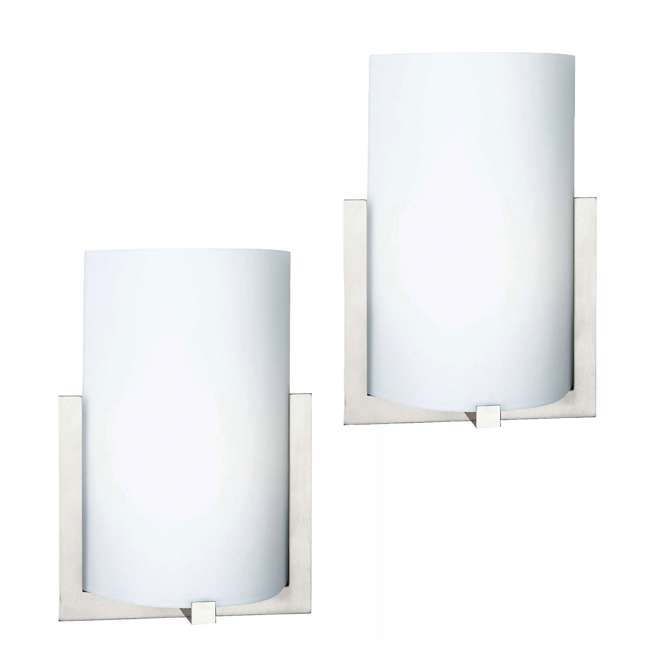 PLC-FL0003836 Philips Forecast 12-Inch Bow 3 Light Wall Sconce, Satin Nickel (2 Pack)