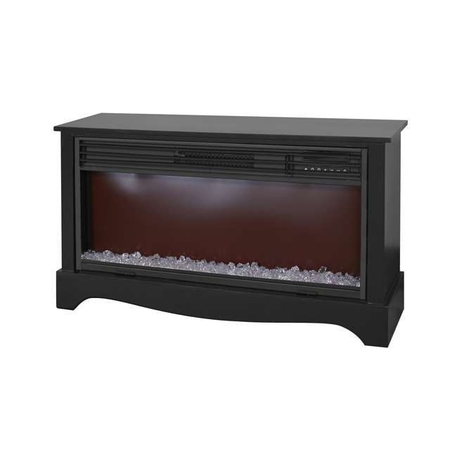 LS-ZCFP1034US-BLACK LifeSmart LifeZone Electric Infrared Quartz Fireplace Heater (2 Pack) 4