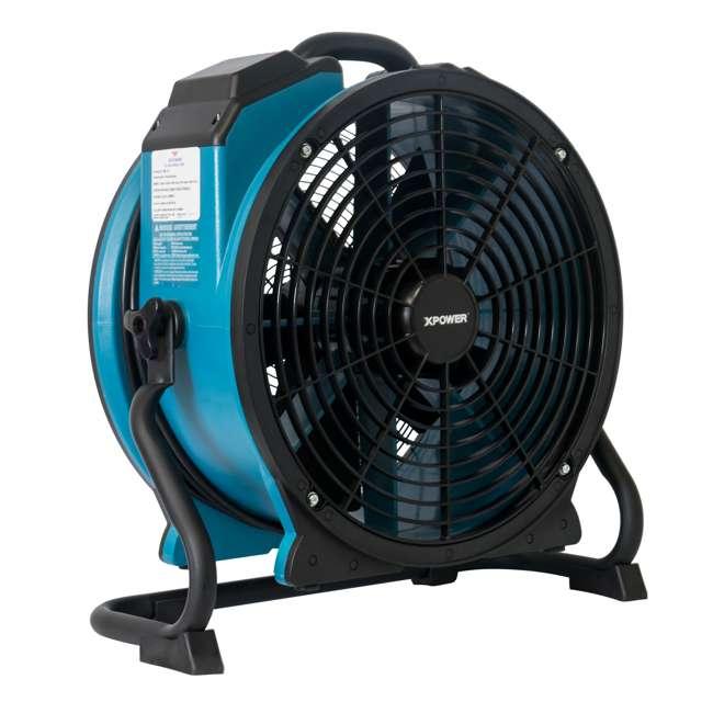 FC-420 XPOWER FC-420 Pro Air 18 Inch 3600 CFM 360 Degree Rotation Utility Fan, Blue