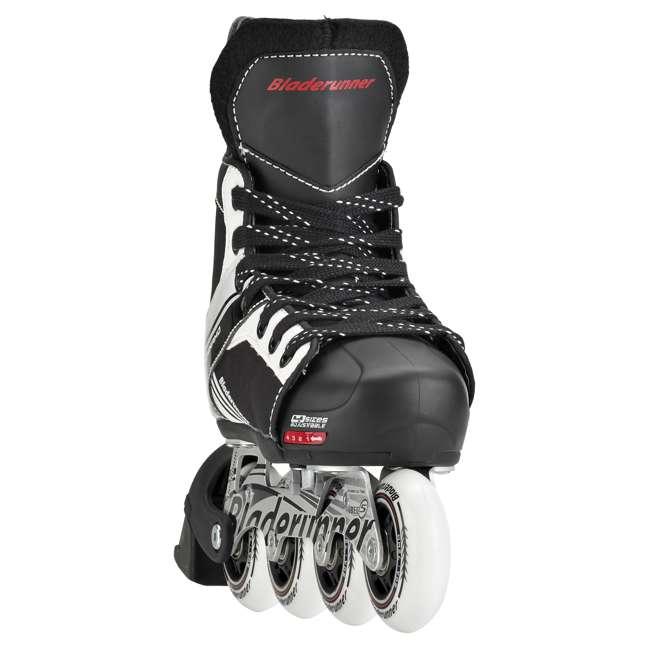 0T200100741-M Rollerblade Bladerunner Dynamo Youth Adjustable Inline Skate, Medium, Black 3