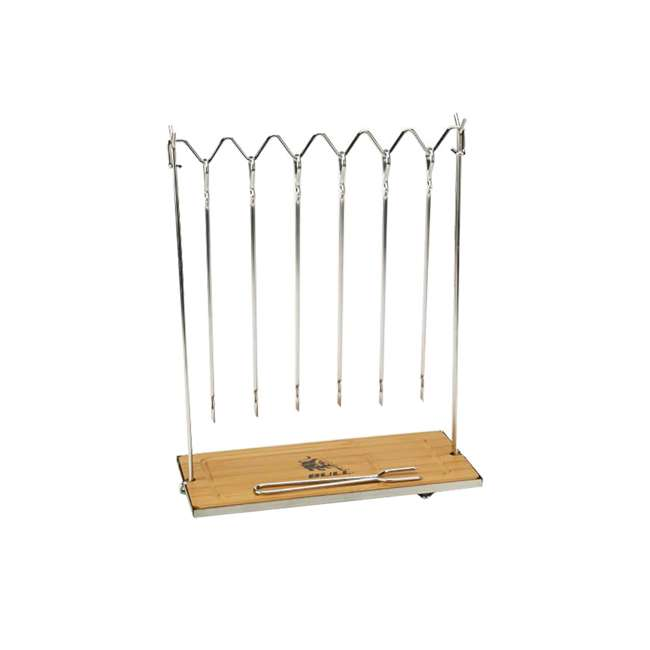 BOPA-24207 + BOPA-24281 Bull Skewer Sticks Station & Mini Signature Flat Skewer (6 Pack) 3