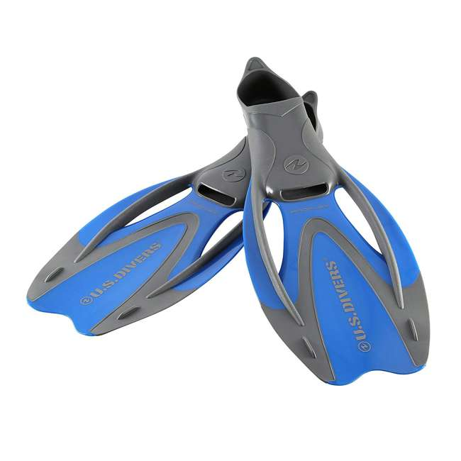 FA218O4015M-U-A U.S. Divers Proflex Fx Size Medium Diving & Swimming Fins, Blue/Gray (Open Box)