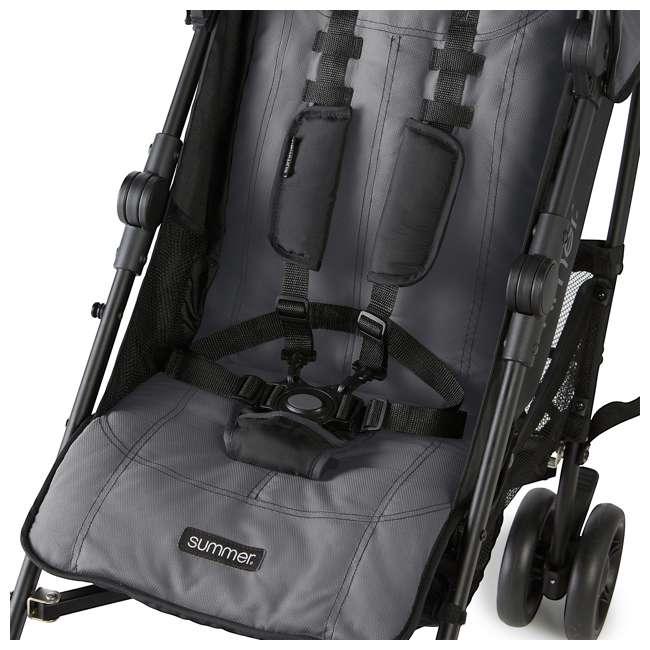 32753 Summer Infant 3DlitePlus Convenience One-Hand Adjustable Stroller Matte Gray 5