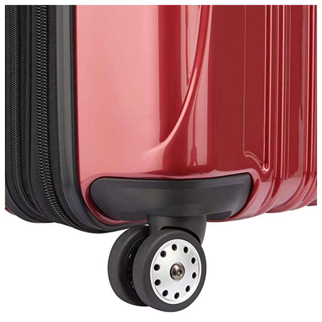 07644RD DELSEY Paris Helium Aero Expandable Rolling Carry On Luggage Suitcase, Brick Red 2