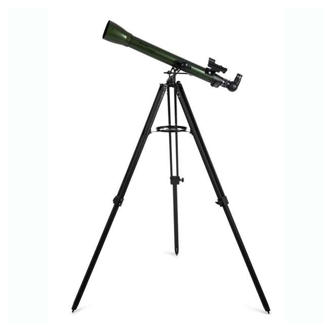 22105 Celestron ExploraScope 60AZ 60x 700mm Telescope, Green (Open Box) 1