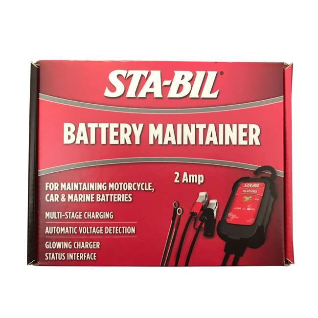 22213 STA-BIL Fuel Stabilizer + 2 Amp Battery Maintainer 8