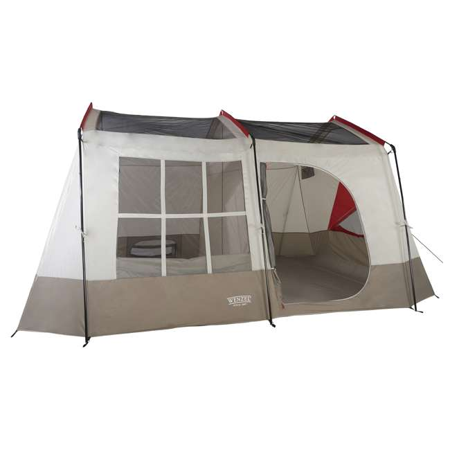 36423R + 840017 Wenzel Kodiak 9-Person Family Camping Tent with Insta-Bed Queen  1