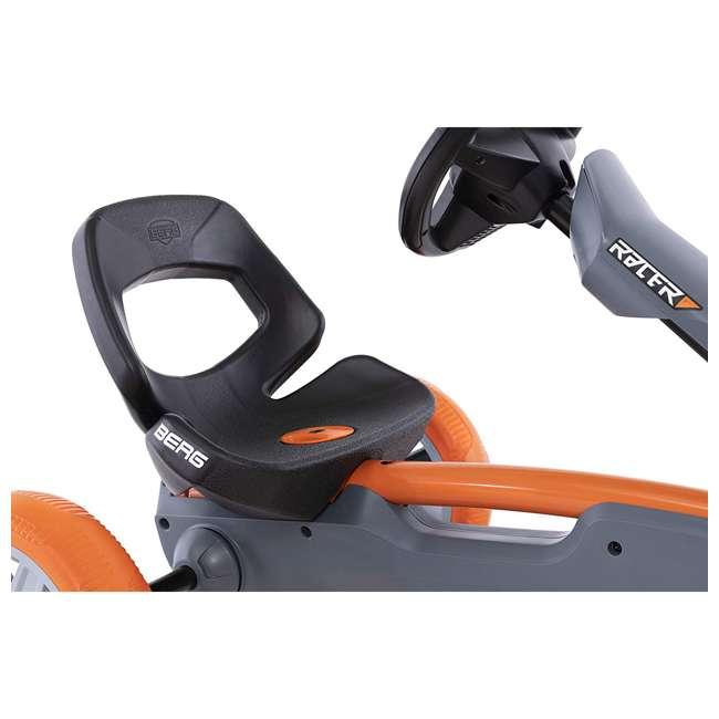 24.60.01.00 BERG Reppy Racer Kids Pedal Go Kart Ride On Toy w/ Axle Steering, Gray & Orange 4