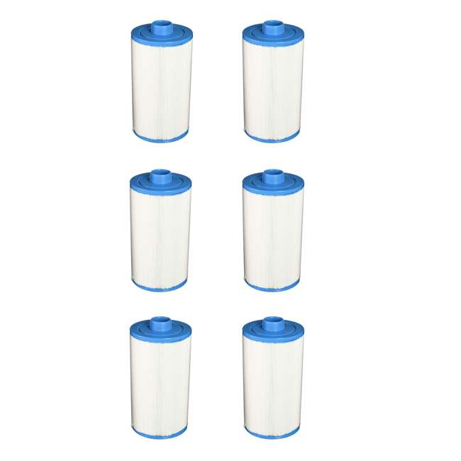 6 x 78460 Lifesmart 303279 50 Ft Replacement Spa Filter Cartridge (6 Pack)