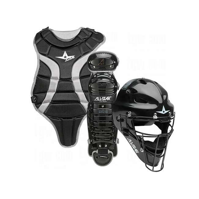 022AL042 BLK-U-C All-Star Sports Youth League Protective Catchers Set, Black (For Parts)