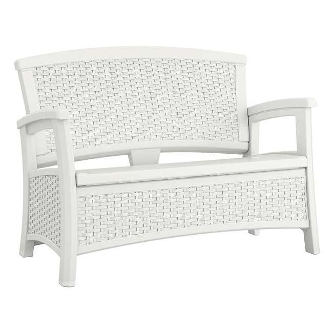 BMDB3010W + BMWB5000W + 2 x BMCC1800W Suncast Patio Coffee Table, Loveseat w/ Storage, Club Chair w/ Storage (2 Pack) 6