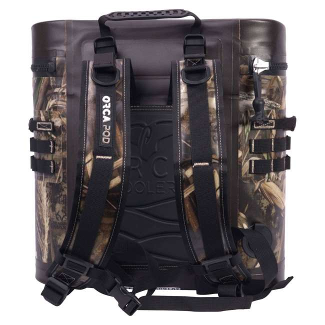ORCPDSTRRTM5 Orca Podster Realtree Max 14.25 Quart 12 Can Ice Cooler Day Back Pack, Camo 1