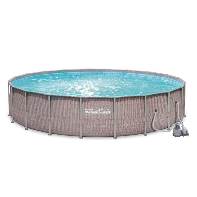 "P4G024521167 + QLC-42005 Summer Waves 24' x 52"" Above Ground Pool Set + Qualco Chemical Maintenance Kit 2"