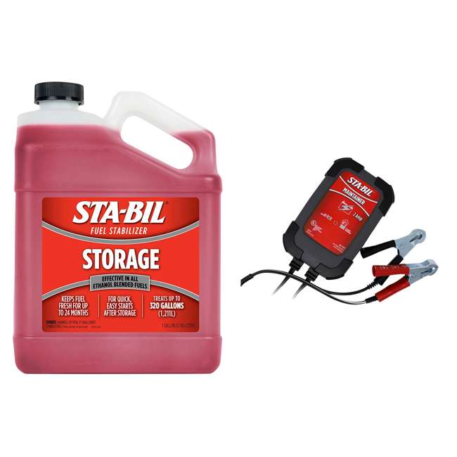 22213 STA-BIL Fuel Stabilizer + 2 Amp Battery Maintainer