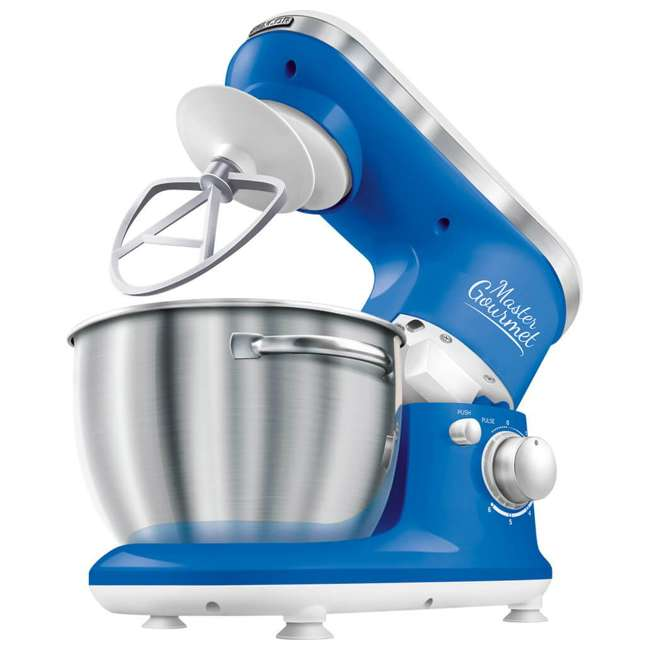 STM3620WH-NAA1 Sencor STM 3620WH 4.2-Quart 6-Speed Food Mixer with Stainless Steel Bowl, Blue