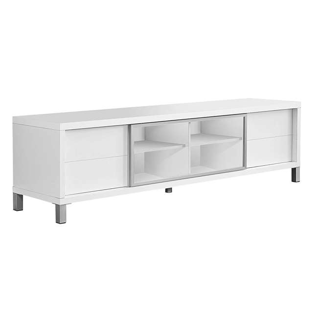 VM-2537 Monarch Specialties 70 Inch European Style Television Stand Media Center, White 2