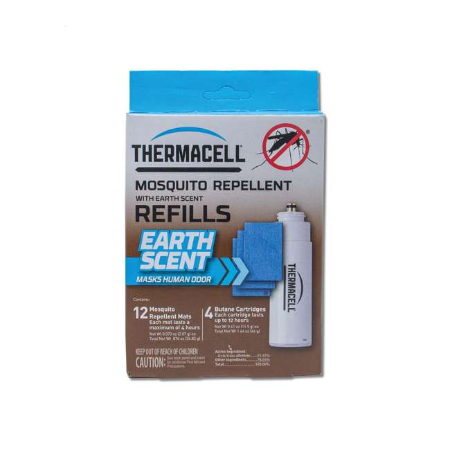 3 x E-4 Thermacell E-4 Mosquito Repellent Refills w/12 Mats & 4 Fuel Cartridges (3 Pack) 1