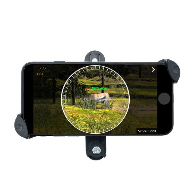 CF/ACCUBOW-4 + A-PHMOUNT-01 AccuBow Bow Hunting Archery Trainer with Adjustable Resistance + Phone Mount Accessory  4