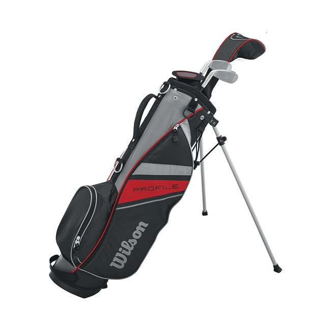 WGGC61300 Wilson Profile Complete Small Junior Right Hand Golf Set w/Red Golf Bag (2 Pack) 4
