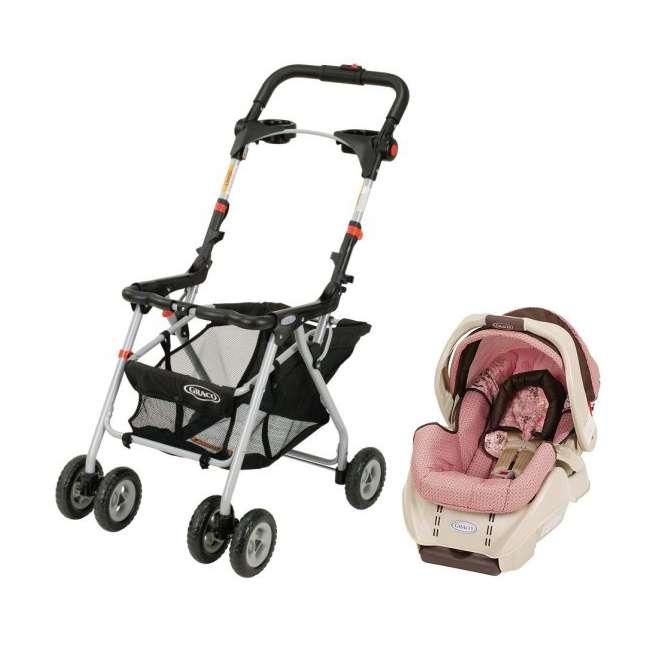 Graco SnugRider Frame & SnugRide Infant Car Seat Combo - Olivia ...
