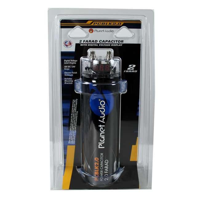 PCBLK2.0 Planet Audio PCBLK2.0 2 Farad Digital Capacitor with Led - Black 3