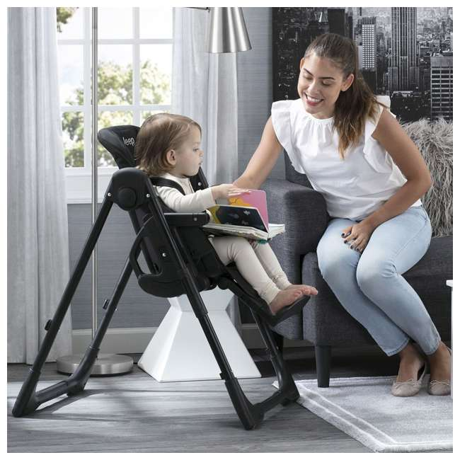 25008-2013 Jeep Classic Convertible Foldable High Chair for Babies and Toddlers, Black 4