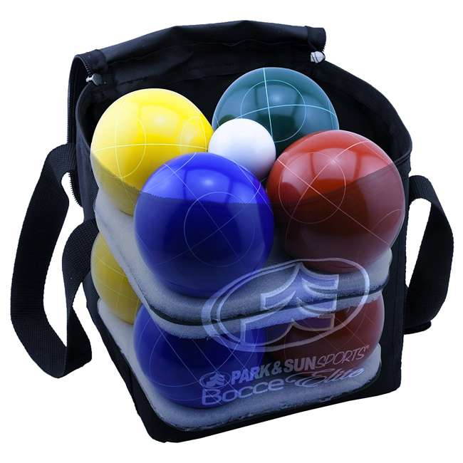 BB-109E Park & Sun Sports Bocce Elite Pro 109mm Set with Carrying Bag 2