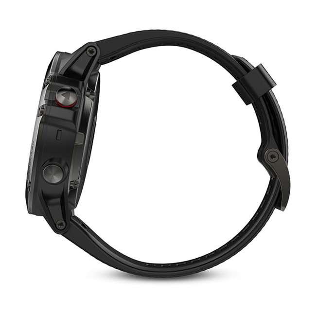 010-01733-00 Garmin Fenix 5X Multi-Sport 64 MB Smart Watch, Gray 4