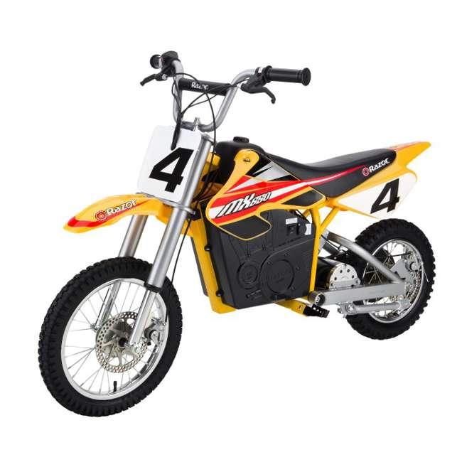 15165070 + 97775 + 96785 Razor MX650 Dirt Rocket Electric Moto Bike with Helmet, Elbow & Knee Pads 1