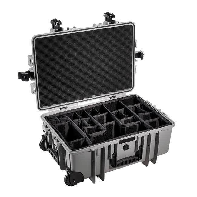 6700/B/RPD + CS/3000 B&W 42.8L Plastic Waterproof Case w/ Wheels, RPD Insert & Shoulder Strap, Black 1