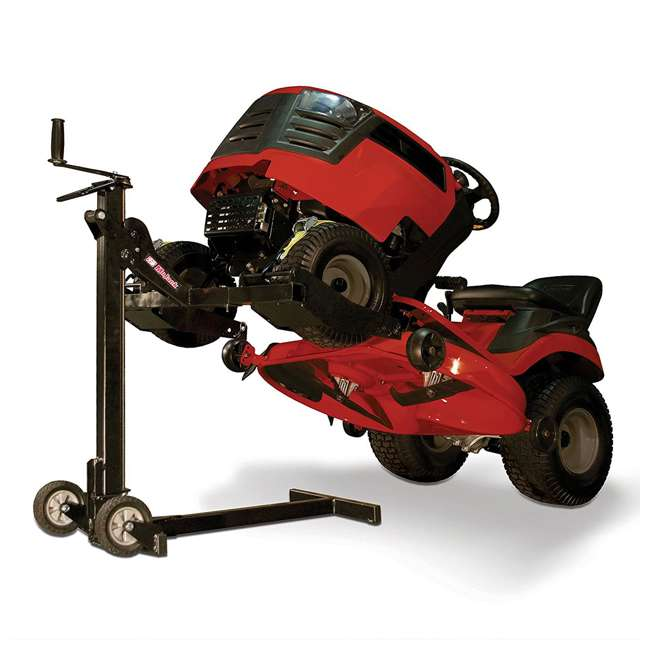 MJEZ-U-A MoJack  Compact Folding 300 lb Capacity Riding Lawn Mower Lift Jack (Open Box) 3