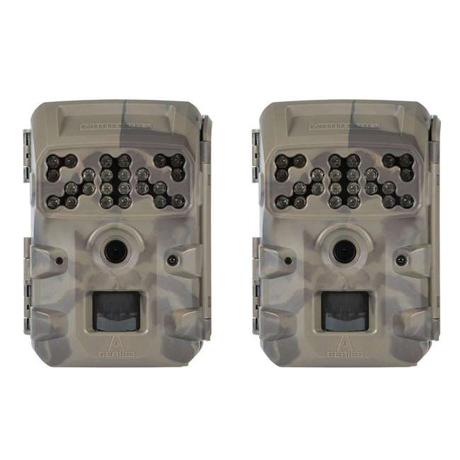 MCG-13335 Moultrie Compact Night Vision Game/ Trail Camera, Smoke Screen Camo (2 Pack)