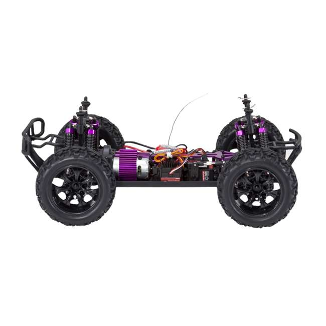 4 x VOLCANOEP-94111-RedBlack-24 Redcat Racing Volcano EPX 1:10 Scale RC Monster Truck, Red (4 Pack) 6