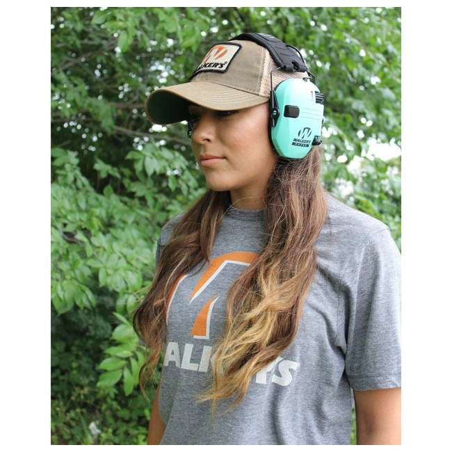 GWP-RSEM-LTL Walker's Razor Slim Hearing Protection Earmuff, Teal  3