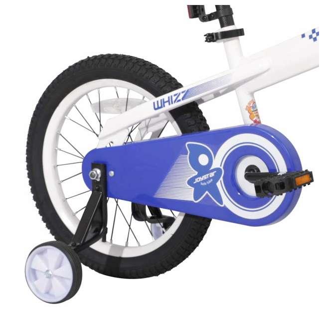 BIKE029wh-16 JOYSTAR Whizz Series 16-Inch Ride On Kids Bike w/ Training Wheels, White & Blue 2