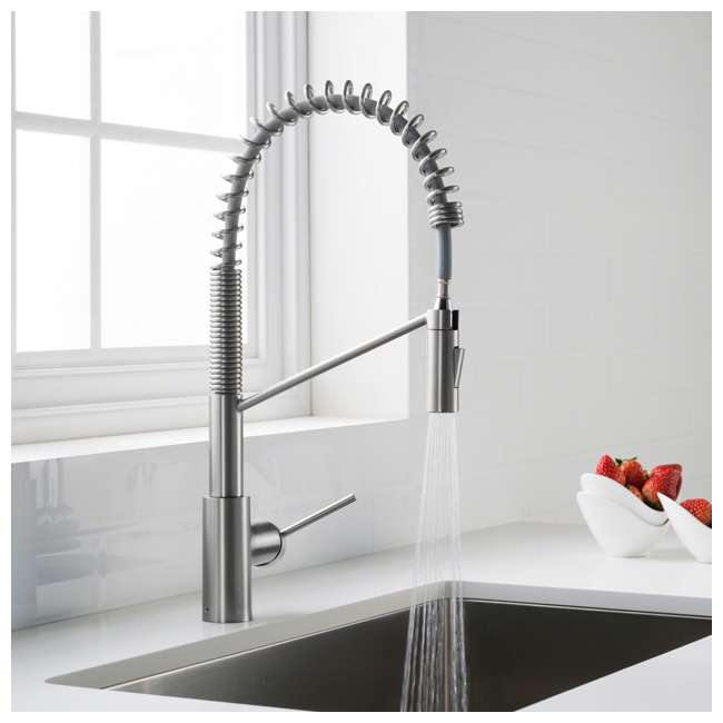 KPF-2631CH-OB Kraus Oletto Single Handle Pull Down Kitchen Faucet, Chrome (OPEN BOX) 2