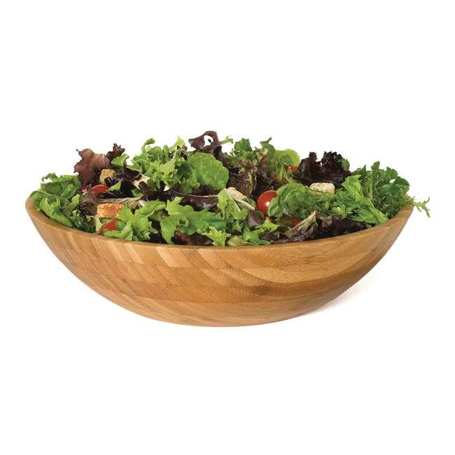 LP-8204 Lipper International 8204 Natural Bamboo Wood Salad and More Serving Bowl, Large 1