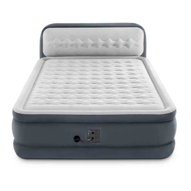 64447EP-U-A Intex Ultra Plush Fiber-Tech Airbed with Headboard, Queen (Open Box) 1