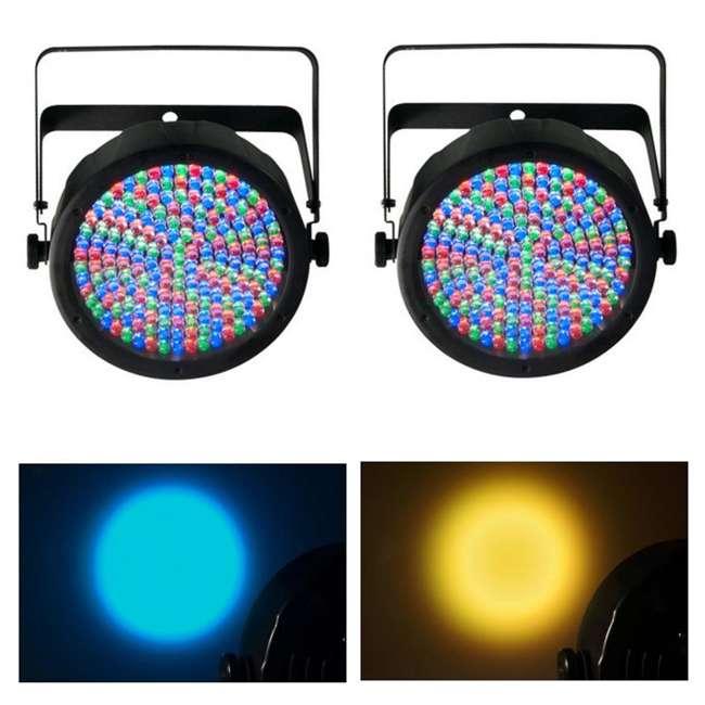 Slim-Par64 Chauvet SlimPar 64 LED DMX Slim Par Can Stage Pro DJ RGB Lighting Effects (Pair) 1