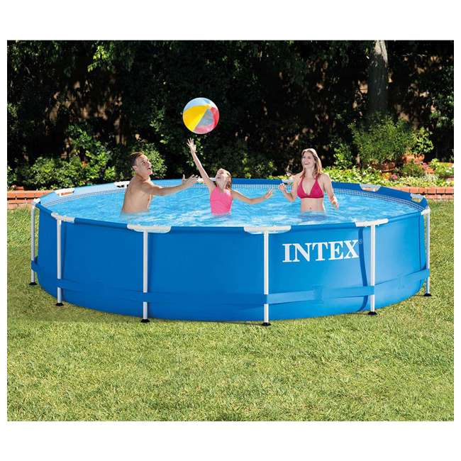 28210EH-U-A Intex 12 Foot x 30 Inches Metal Frame Pool (Open Box) (2 Pack) 2