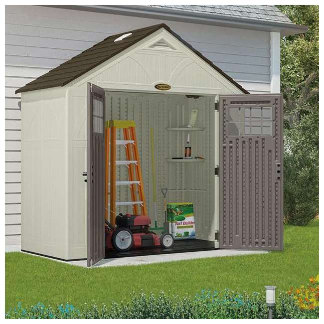 BMS8400D Suncast  8' x 4' Outdoor Patio and Garden Storage Shed 2
